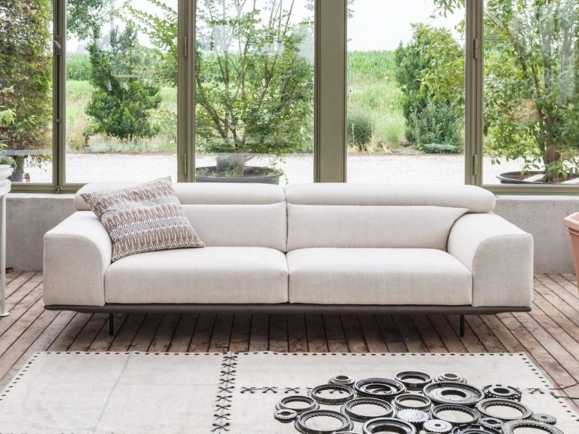 Fabric sofa with removable cover with headrest FRANK   Fabric sofa by Gobbo Salotti