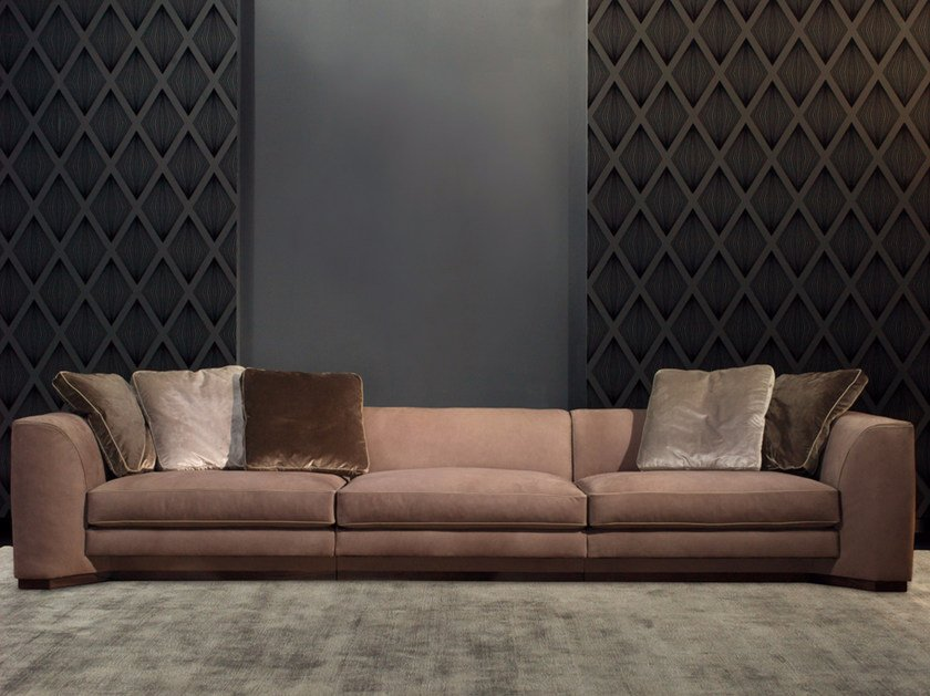 Modular 3 seater leather sofa FRANKLIN | Leather sofa by Borzalino