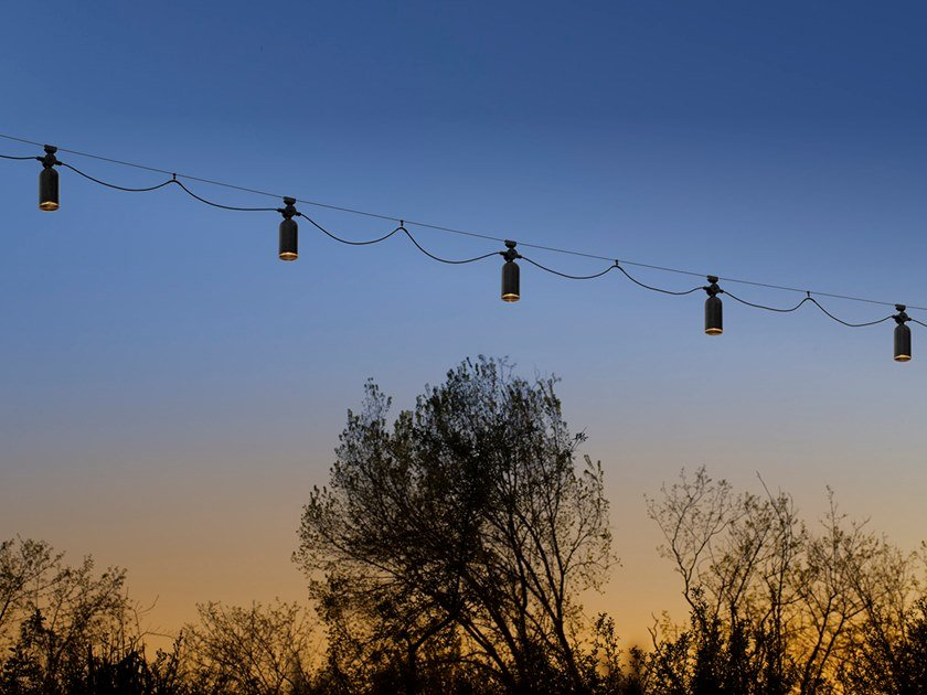 Cable-mounted pendant lamp FRASCA OUTDOOR by Aldo Bernardi