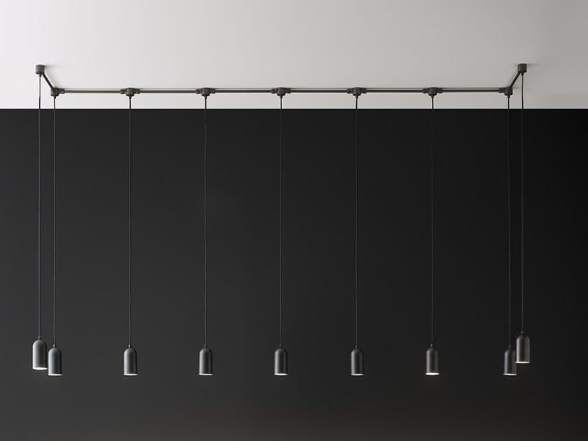 Lampada a sospensione in ottone FRASCA - SISTEMA SPR by Aldo Bernardi