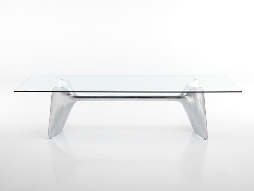 Rectangular aluminium table FRATINO | Aluminium table by BALERI ITALIA