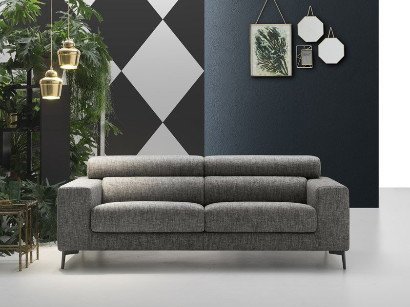 3 seater fabric sofa with headrest FRED | 3 seater sofa by Felis