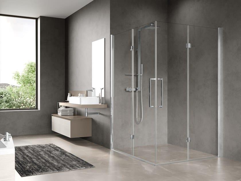 Box doccia angolare con porta a soffietto FREE 3 2AS by NOVELLINI