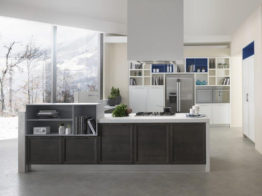 Cucina componibile in laminam con penisola free cucina con penisola collezione free by - Cucine floritelli ...