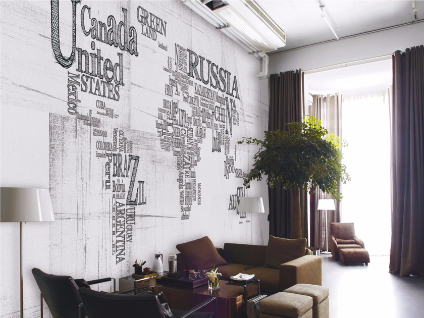 Panoramic writing wallpaper FREE STATES by Inkiostro Bianco