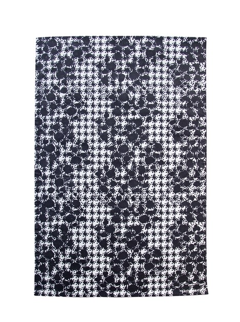 Rectangular fabric rug with geometric shapes FREEDOOM OF MOVEMENT by ROCHE BOBOIS