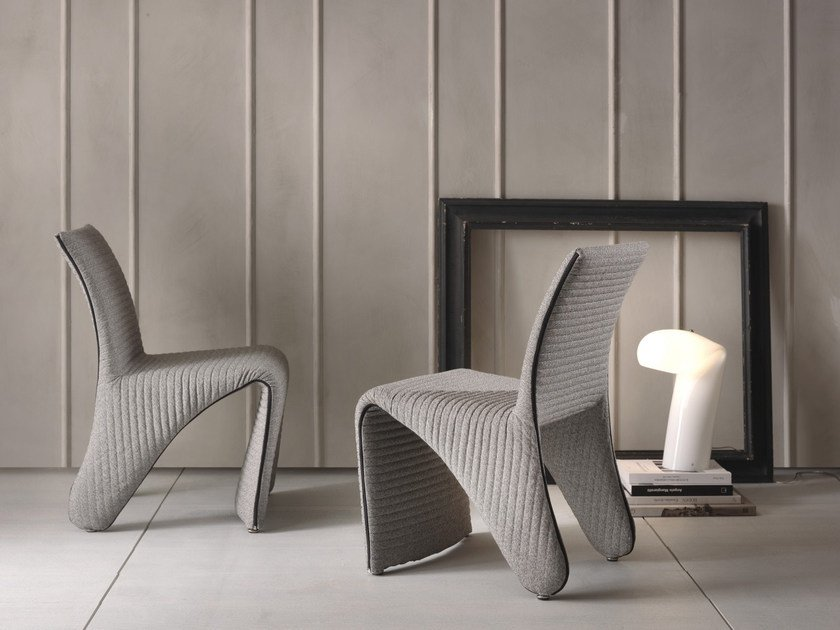 Fabric chair with removable cover FREELINE by Pacini & Cappellini