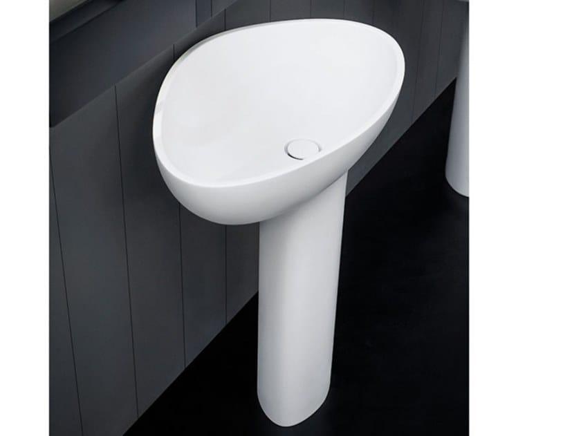 Freestanding pedestal Cristalplant® washbasin DROP | Freestanding washbasin by Agape