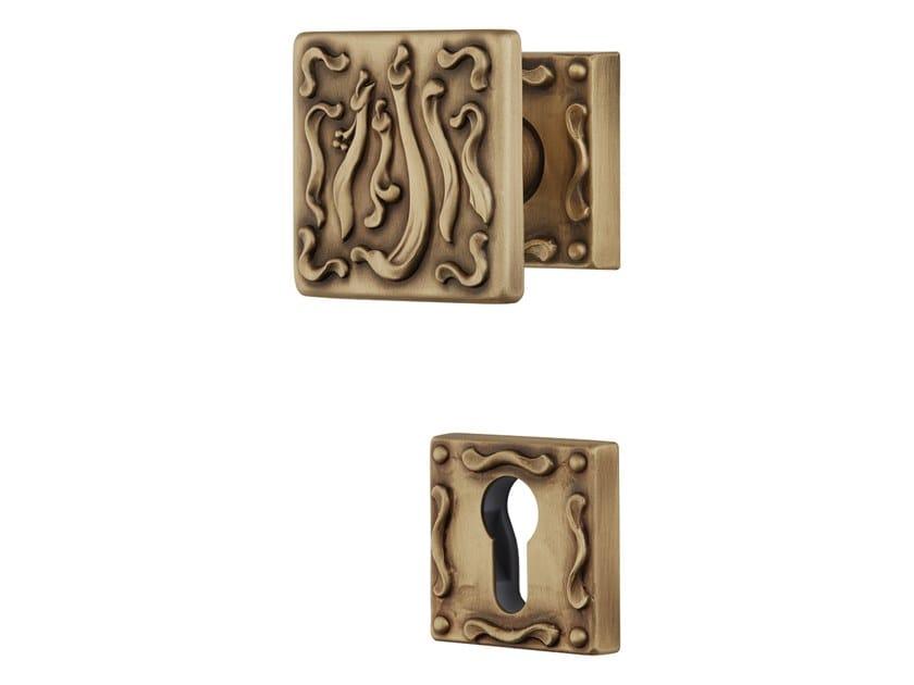 Pomolo per porta in ottone con serratura FRIDA | Pomolo per porta by LINEA CALI'