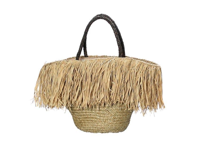 Raffia bag FRINGE BASKET by Bazar Bizar