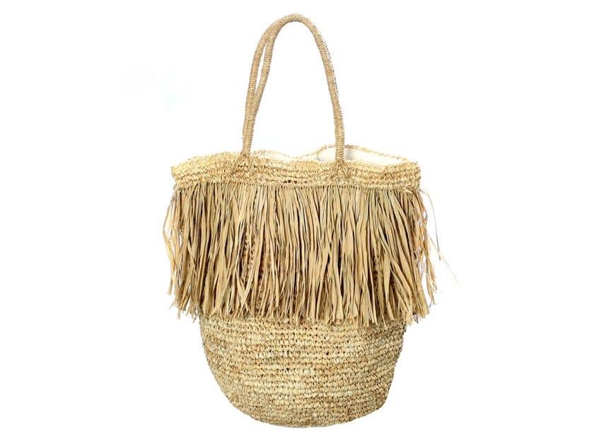 Raffia bag FRINGE TOTE by Bazar Bizar