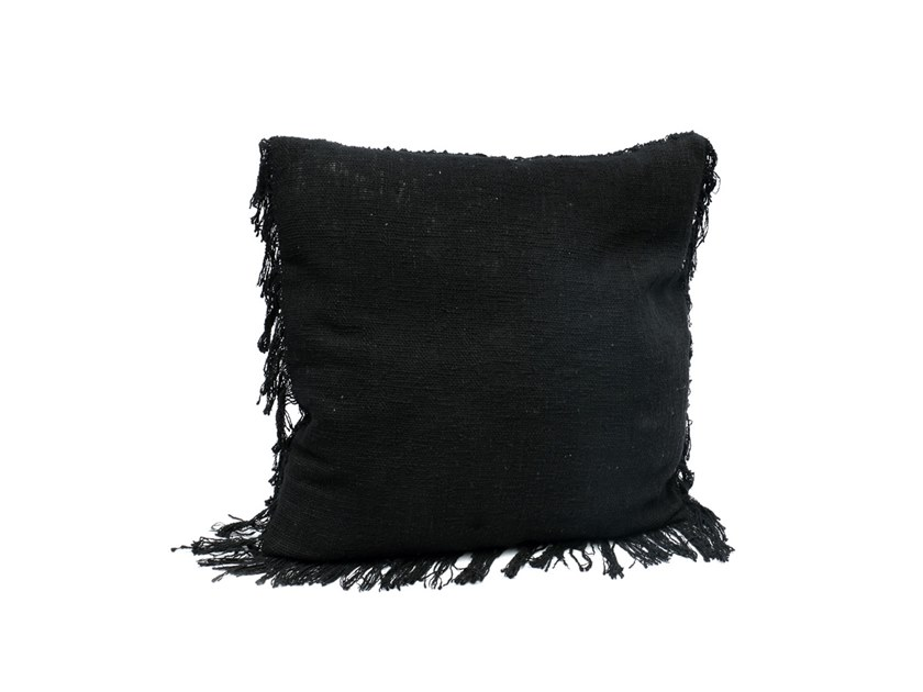 Square cotton cushion FRINGED | Square cushion by Bazar Bizar