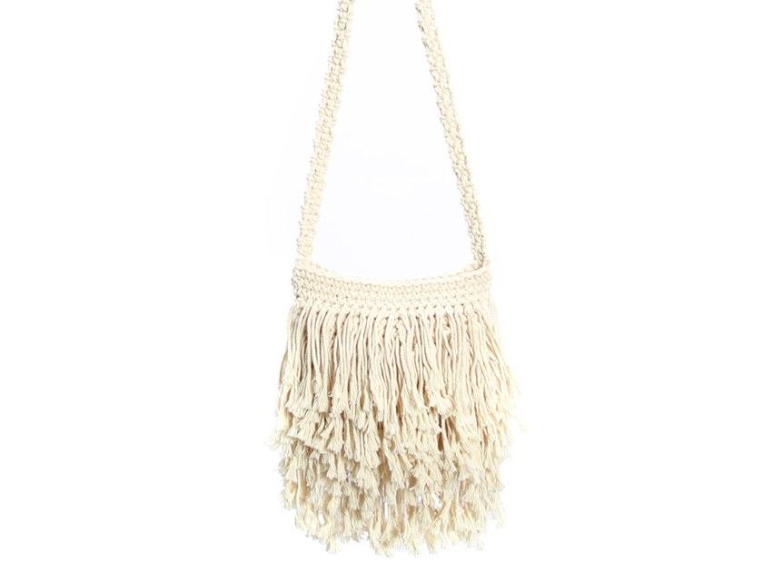 Cotton bag FRINGED MACRAME by Bazar Bizar