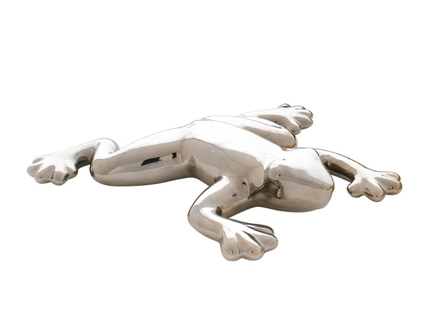 Ceramic decorative object FROG by Adriani e Rossi edizioni
