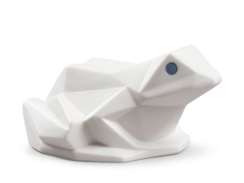 Porcelain decorative object FROG MATTE WHITE by Lladró