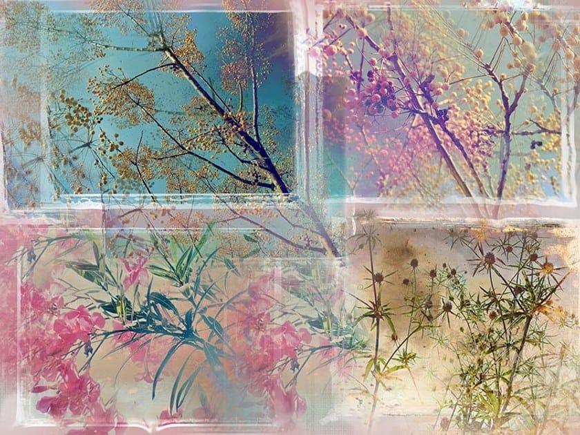 Oriental wallpaper, PVC free, eco, washable FRONDE DI PASTELLI COLORATI by Wallpepper
