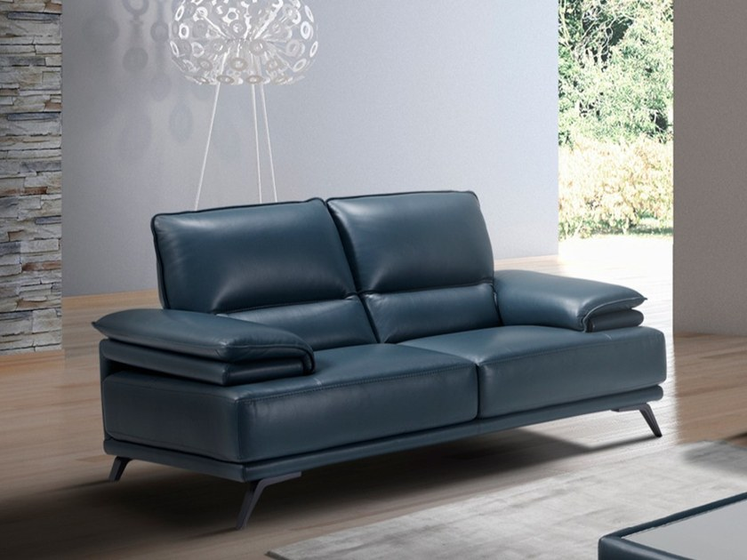 2 seater leather sofa FROZ by Max Divani