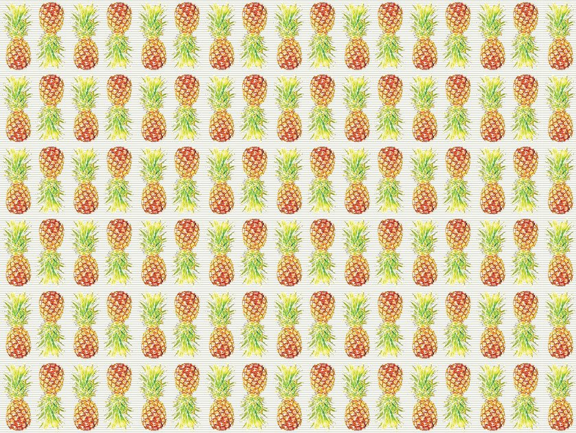 Tapete Boden Tapete Fruitable Ananas By Texturae