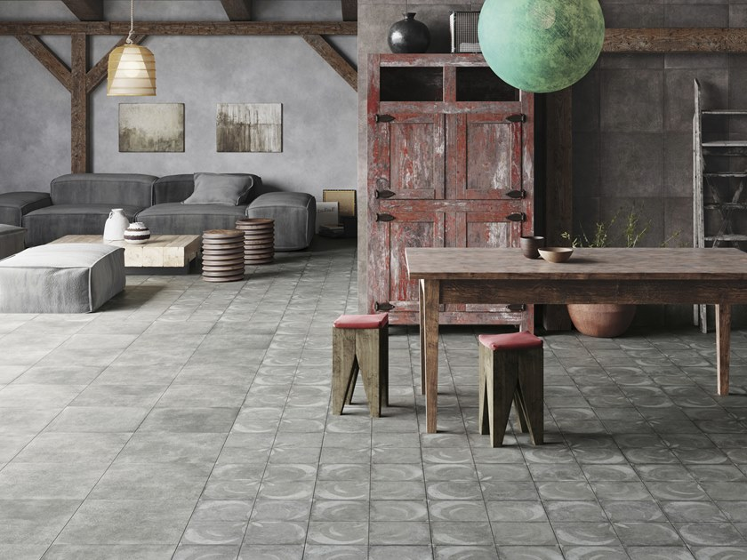 Anti-slip frost proof flooring with concrete effect FS VENDOME by PERONDA