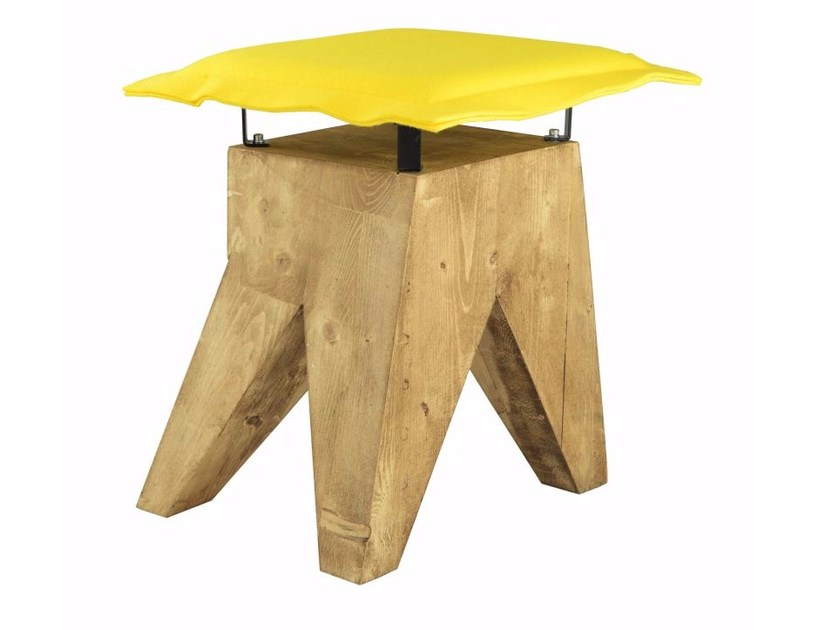 Upholstered solid wood stool FST0015 - 018 | Stool by Gie El Home