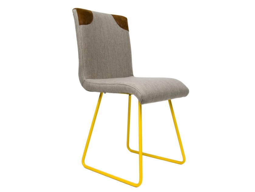 Sled base upholstered fabric chair FST0020 - 0022 | Chair by Gie El Home