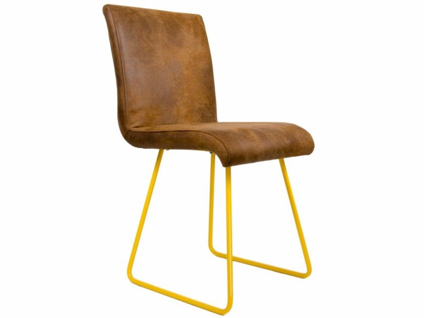 Sled base upholstered imitation leather chair FST0030 - 0032 | Chair by Gie El Home