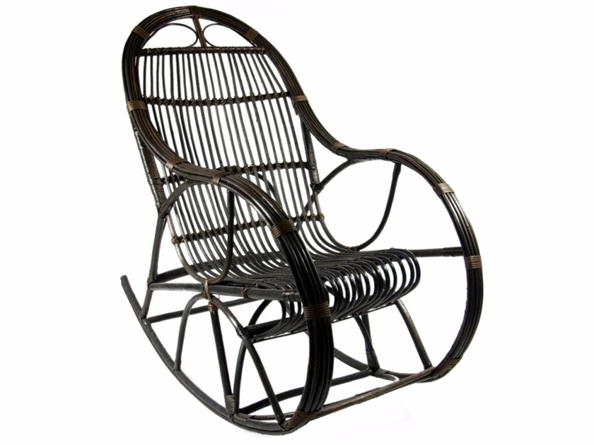 Rocking wicker armchair with armrests FST0070 - 0071 | Armchair by Gie El Home