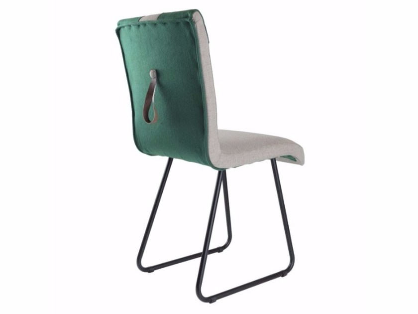 Sled base upholstered felt chair FST0220 | Chair by Gie El Home