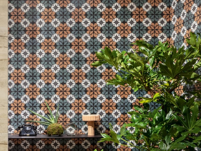 Porcelain stoneware wall/floor tiles with encaustic effect FUN AUTUMN 01 by CERAMICA SANT'AGOSTINO