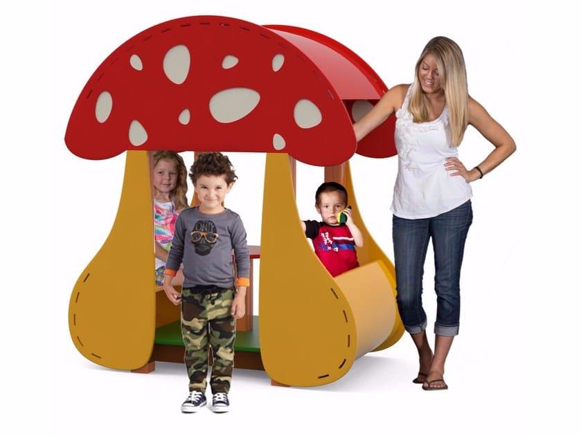 Polyethylene Playhouse for playground FUNGOTTO by Stileurbano