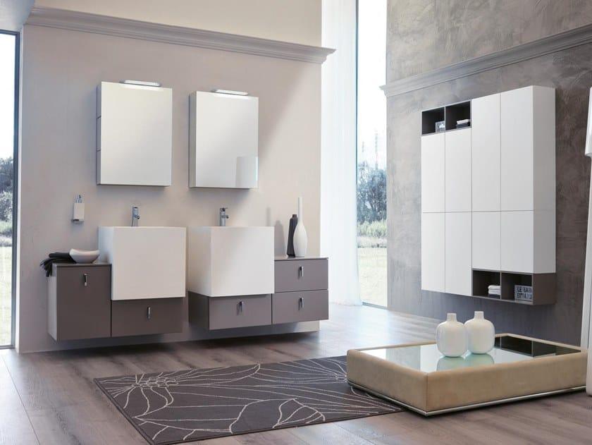 Mobile lavabo sospeso con specchio FUNKY 03 - BMT