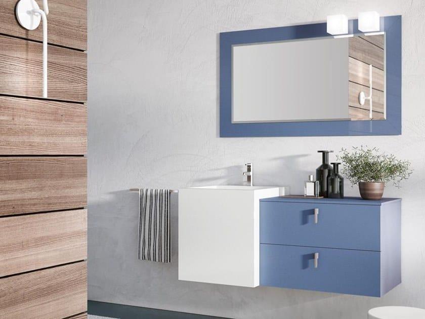 Mobile lavabo sospeso con specchio FUNKY 06 by BMT