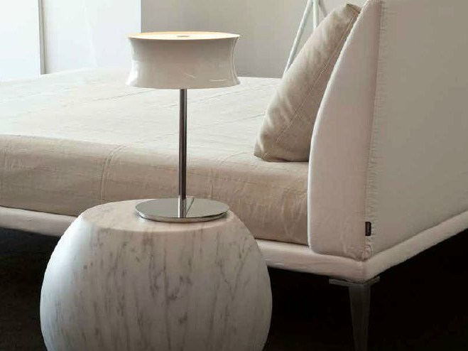 Satin glass table lamp FUNNY | Table lamp by Lucente