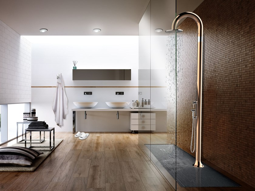 Polyethylene outdoor shower FUNNY YIN TOPLINE by ARKEMA DESIGN