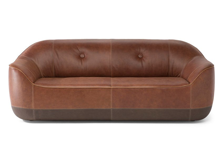 Leather sofa FURROW | Sofa by Natuzzi