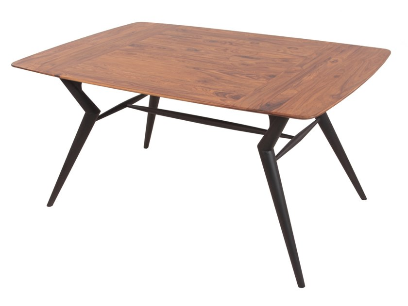 Rectangular teak table FUSI by ALANKARAM