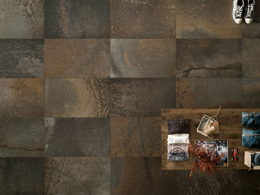 Porcelain stoneware wall/floor tiles with stone effect FUSION DARKS by ASTOR CERAMICHE