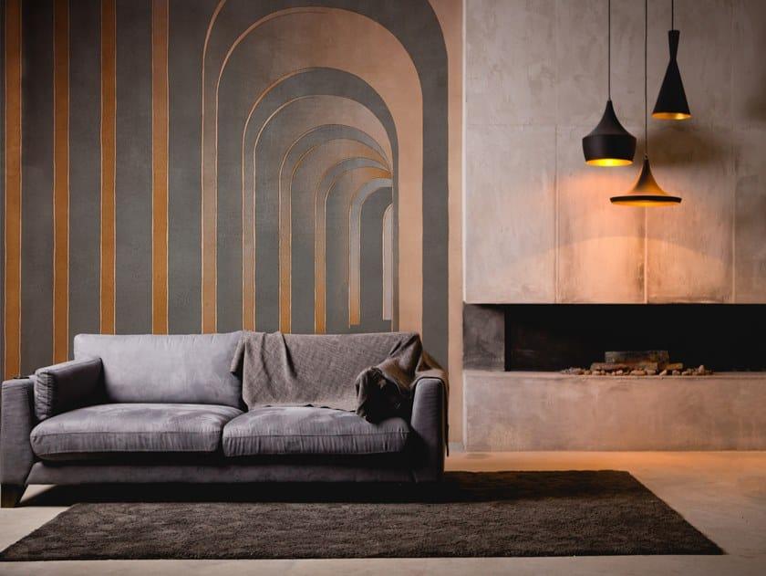 Geometric nonwoven wallpaper FUTURA by Tecnografica Italian Wallcoverings