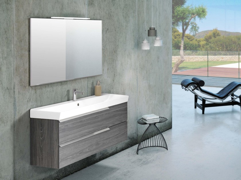 Single laminate vanity unit with drawers FY06 by Mobiltesino