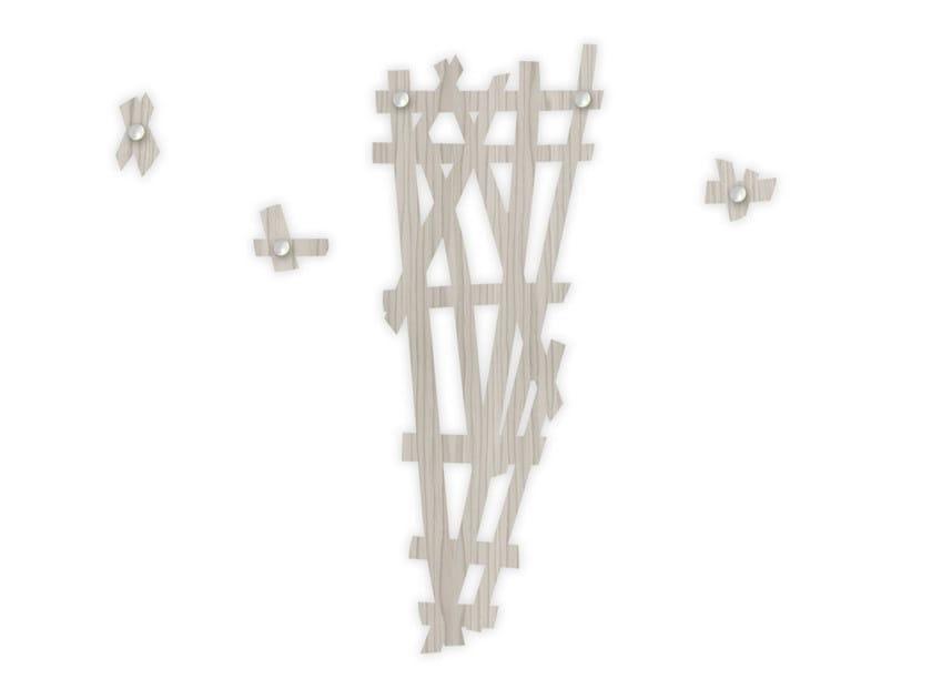 Wall-mounted MDF coat rack G-389 | Coat rack by LAS