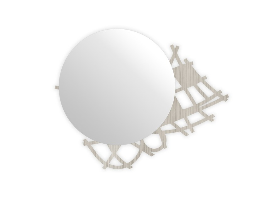 Round wall-mounted framed mirror G-397 | Mirror by LAS