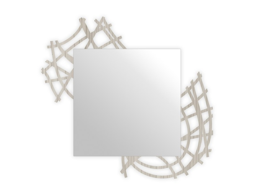 Square wall-mounted framed mirror G-398 | Mirror by LAS