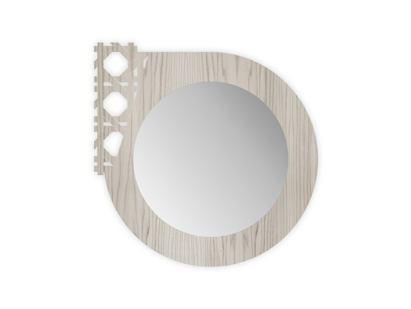 Round wall-mounted framed mirror G-408 | Mirror by LAS