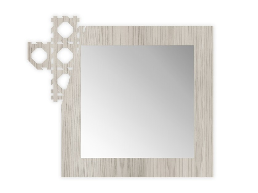 Square wall-mounted framed mirror G-409 | Mirror by LAS