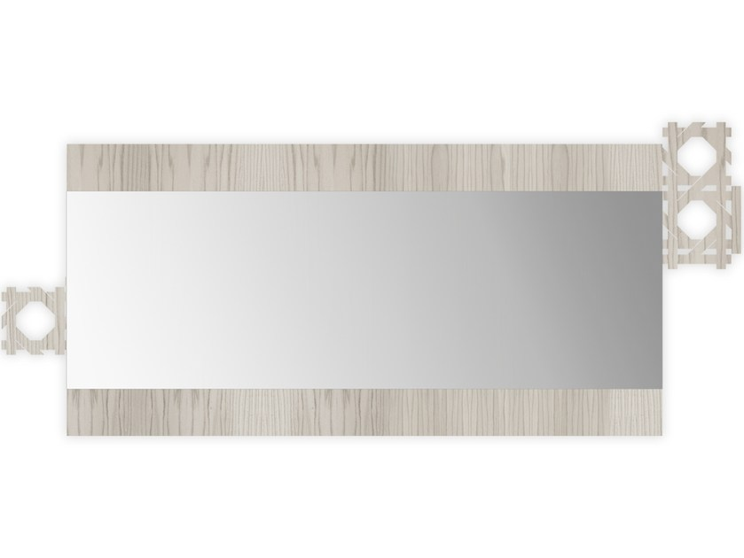 Rectangular wall-mounted framed mirror G-410 | Mirror by LAS