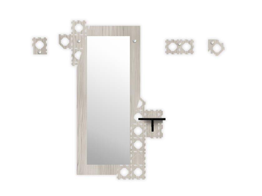 Wall-mounted MDF hallway unit G-413 by LAS