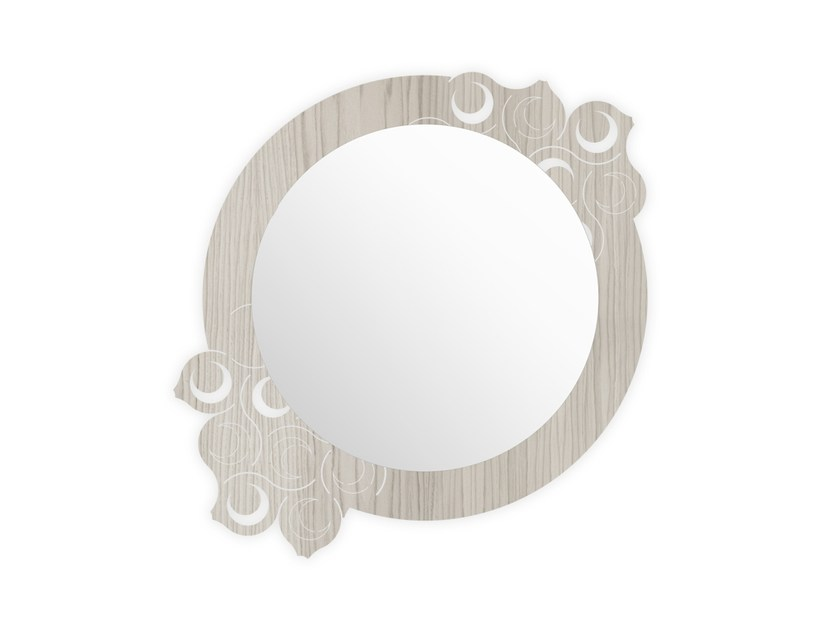 Round wall-mounted framed mirror G-419 | Mirror by LAS