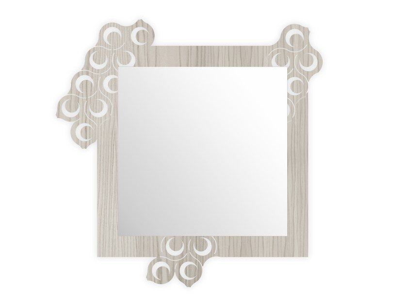 Square wall-mounted framed mirror G-420 | Mirror by LAS