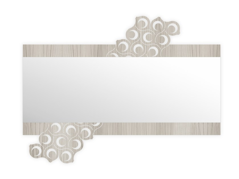 Rectangular wall-mounted framed mirror G-421 | Mirror by LAS