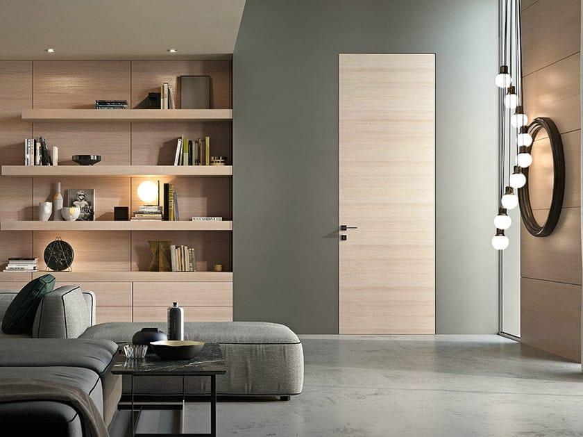 Hinged aluminium and wood door G-LIKE | Door by GIDEA